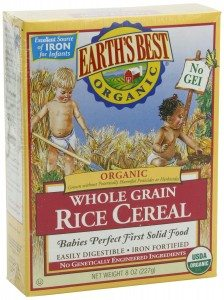 Earth's Best Organic Whole Grain, Rice Cereal, 8-Ounce Box (Pack of 12) Deal