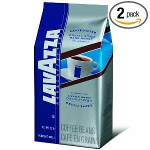Lavazza Gran Filtro Dark Roast Whole Coffee Beans, 2.2-Pound Bags Deal