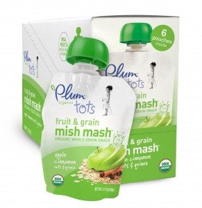 Plum Organics Tots Fruit and Grain Mish Mash, Apple Cinnamon, Oats and Quinoa, 3.17-Ounce Pouches (Pack of 12) Deal