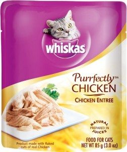 Whiskas Purrfectly Chicken in Natural Juices Food for Cats, 3-Ounce Pouches (Pack of 24) Deal