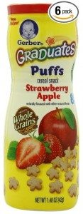 Gerber Graduates Strawberry & Apple Puffs, 1.48-Ounce Canisters (Pack of 6) Deal
