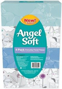 Angel Soft Facial Tissue, 4-Boxes, White, 165ct. each Deal