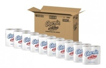 Charmin Ultra Strong Toilet Paper, Double Rolls, 40 Count Deal
