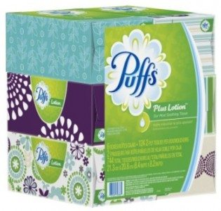 Puffs Plus Lotion Facial Tissues; 6 Family Boxes; 124 Tissues per Box Deal