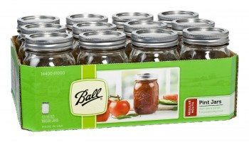 Ball® Regular Mouth Pint Jars with Lids and Bands- Set of 12 Deal