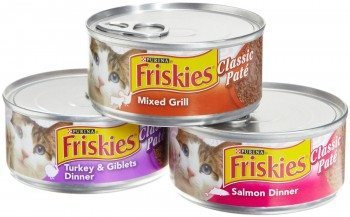 Friskies Cat Food Classic Pate, 3 Flavor Variety Pack (Salmon, Mixed Grill, Turkey & Giblets), 5.5-Ounce Cans (Pack of 24)  Deal