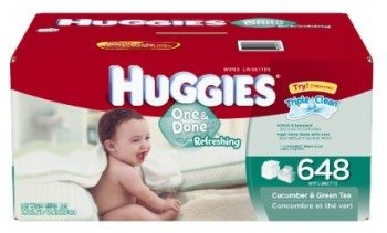 Huggies One and Done Scented Baby Wipes