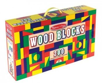 Melissa & Doug 200 Wood Block Set Deal