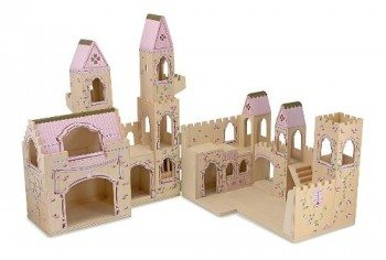 Melissa & Doug Deluxe Wooden Folding Princess Castle Deal