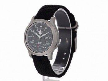 Seiko Men's SNK809 Seiko 5 Automatic Watch with Black Canvas Strap Deal