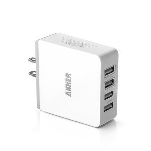 Anker® 36W 7.2A Quad-Port Compact USB Wall Charger  All-In-One Travel Charger for Apple & Android Smartphones & Tablets and other USB-Powered Devices Deal