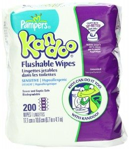 Pampers Kandoo Flushable Sensitive Wipes, 200 Count Deal