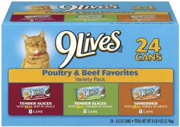 9Lives Poultry and Beef Variety Pack Deal