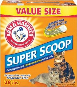 Arm & Hammer Super Scoop Clumping Litter, Unscented, 28-Pound Deal
