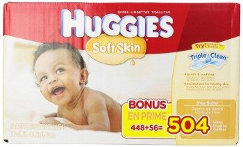 Huggies Soft Skin Baby Wipes Deal