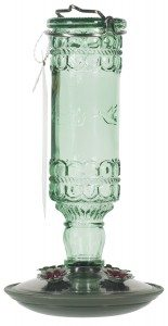 Perky-Pet 8108-2 Green Antique Bottle 10-Ounce Glass Hummingbird Feeder Deal