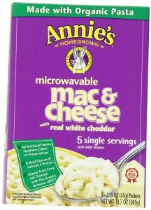 Annie's Homegrown White Cheddar Microwavable Mac & Cheese, 5-Count 2.15 Packets Deal