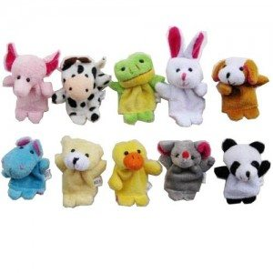 10pcs Velvet Animal Style Finger Puppets Set Deal