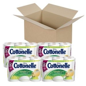 Cottonelle Gentle Care Toilet Paper with Aloe and E, Double Roll Deal