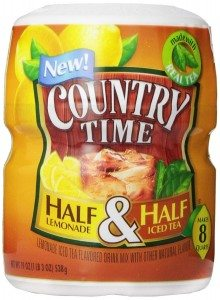 Country Time Half Lemonade Half Iced Tea, 19-Ounce (Pack of 4) Deal