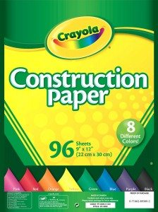 Crayola Construction Paper, Assorted Colors, 96 count Deal