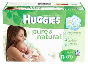 Huggies Pure & Natural Diapers, Newborn, 72 Count Deal