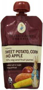 Peter Rabbit Organics, Sweet Potato, Corn and Apple Puree, 4.4-Ounce Pouches (Pack of 10) Deal