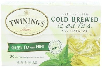 Twinings Green & Mint Cold Brewed Tea, 20-Count Packages Deal