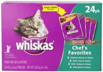 Whiskas Choice Cuts Chef's Favorites Variety, 24-Count Deal