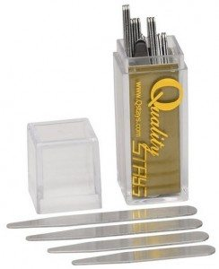 24 Metal Collar Stays in a Clear Plastic Box - 4 Sizes Deal