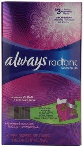 Always Radiant Wipes-To-Go 46 Count Deal