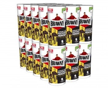 Brawny Individually Wrapped Regular Paper Towels Rolls, White, 30 Count Deal