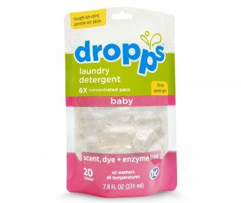 Dropps Baby Laundry Detergent Pacs, Scent, Dye and Enzyme-Free, 20 Loads Deal