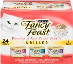 Fancy Feast Gourmet Cat Food, 3-Flavor Grilled Variety Pack (Beef, Turkey & Chicken), 3-Ounce Cans (Pack of 24) Deal