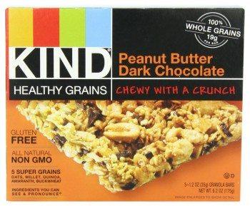 KIND Healthy Grains Granola Bars, Peanut Butter Dark Chocolate, 1.2 Ounce, 5 Count