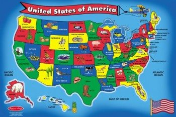 Melissa & Doug USA Map 51 pcs Floor Puzzle Deal