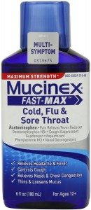 Mucinex Fast-Max Adult Cold, Flu and Sore Throat Liquid, 6 Ounce Deal