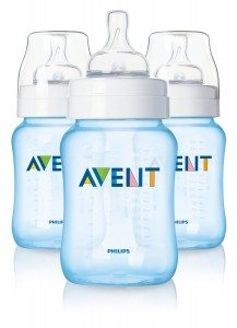 Philips AVENT BPA Free Classic Polypropylene Bottle, Blue, 9 Ounce, 3 Pack Deal