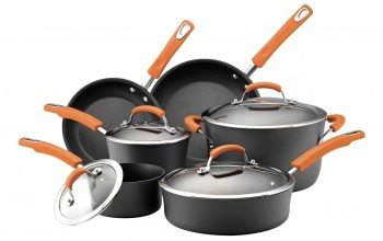 Rachael Ray Hard Anodized II Nonstick Dishwasher Safe 10-Piece Cookware Set Deal