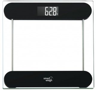 Smart Weigh Precision Digital Vanity  Bathroom Scale, Smart Step-On Technology, Tempered Glass Platform and Large Backlight Display Deal