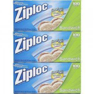 Ziploc Sandwich Bags Value Pack 100 ct Deal