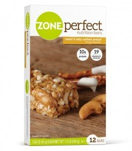 ZonePerfect Sweet N' Salty Cashew Pretzel, 1.58 oz. Bars, 12 Count Deal