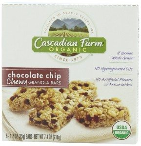 Cascadian Farm Organic Chewy Granola Bar, Chocolate Chip, 1.2 Ounce 6-Count Boxes Deal