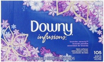 Downy Ultra Infusions Lavender Serenity Sheet Fabric Softener 105 Count Deal