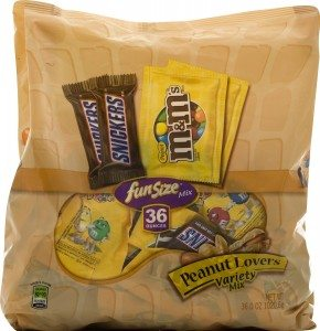 Fun Size Peanut Lovers Variety Pack (M&M's and Snickers), 55-Piece, 36-Ounce Deal