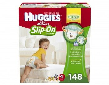 Huggies Little Movers Slip-On Diaper Pants, Size 4, 148 Count Deal