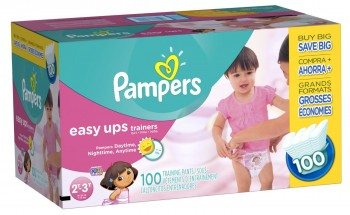 Pampers Easy Ups Training Pants, Size 2T3T Value Pack Girl ,100 Count Deal