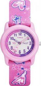 Timex Kids' T7B151 Time Teacher Pink Ballerina Watch with Pink Canvas Band Deal