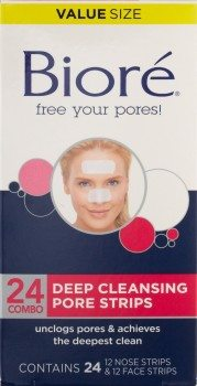 Biore Deep Cleansing Pore Strips, 24 Count Deal