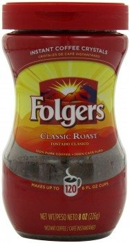 Folgers Classic Roast Instant Coffee, 8 oz., 3 Count Deal